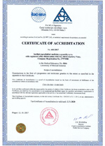 Certificate of Accreditation  2017
